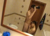 Pipe dans la salle de bain