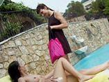 Jeune Lesbiennes nudiste